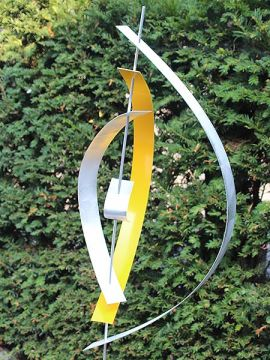 Aluminiumkunst Yellow 4 exkl. Sockel