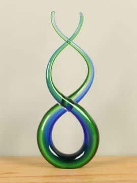 Glas Figur blau/grün