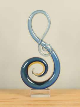 Dekoration Glas blau/gelb RF2051