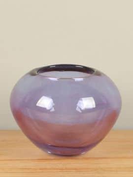Glazen bol vaas lila, 15 cm, A009