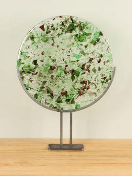 Dekoration Scheibe frit Glas