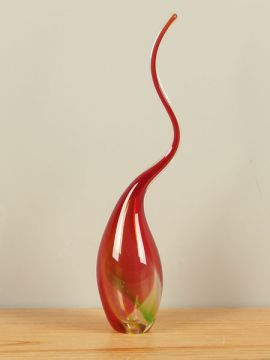 Glastropfen rot/grün