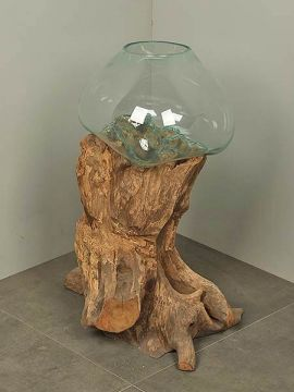 Vase Glas auf Baumstumpf DS/V-5