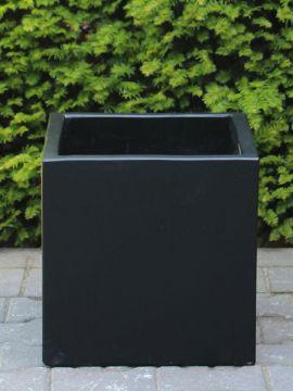 Plantenbak light cement 30*30 cm. kleur zwart