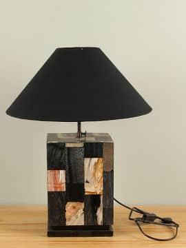 Tischlampe Versteinertes Holz