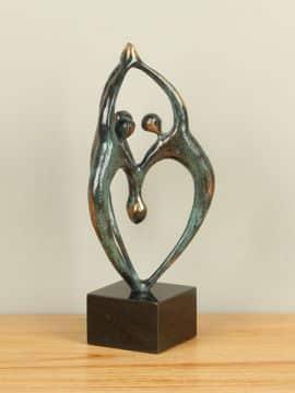 Sculptuur brons Dans, 30 cm.