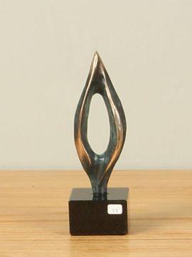 Sculptuur brons Vlam, 16 cm