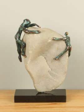 Skulptur Bronze Op naar de top