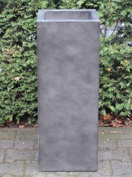 Blumenkästen für draußen leichtbeton anthrazitfarbe 80*35*35 cm.
