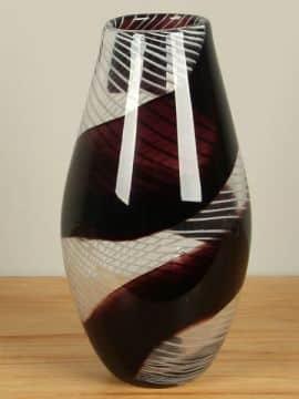 Vaas aubergine/mauve glas 31 cm, SA-2