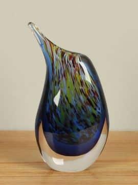 Vaasje kleurrijk uit glas 24 cm, SA-5
