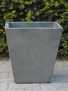 Pflanzgefäß für draußen leichtbeton 21*21 cm. antracit