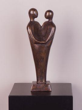 Statue Bronze Koppel hart