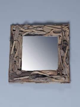 treibholz-Spiegel 40x40 cm.