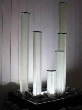 Glassäulen für LED-Beleuchtung und Behälter