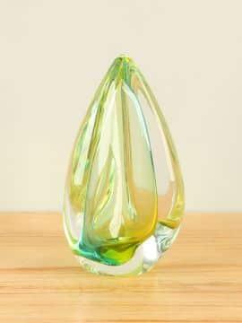 Glasskulptur Kristal lime