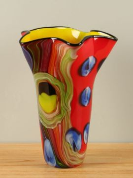 Vase Glas farbig rot NZV-1143