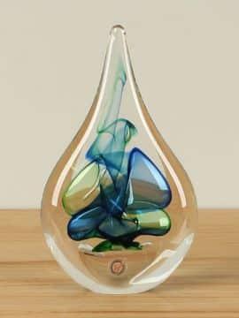 Glasskulptur blau/grün