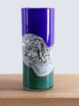 Vase Glas Petrovskiy blau/grün