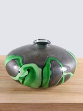 Vase Glas Petrovskiy Bronze/grün
