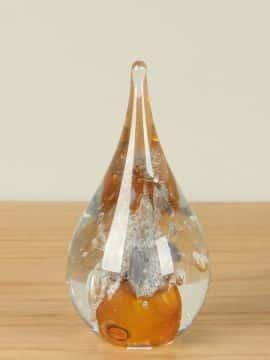 Dekofigur Glas Vulcano ocker
