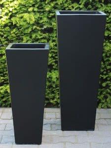 Satz leichtbeton Pflanzkübel schwarz
