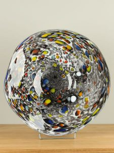 Schale Glas Confetti