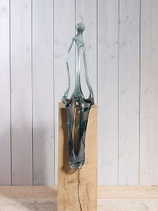 Skulptur Glas petZ-013 exklusive Sockel