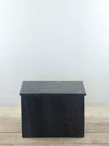 Säule Marmor schwarz 35x45x30 cm.