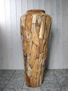 Vase aus Teakholz 120 cm. YA-16
