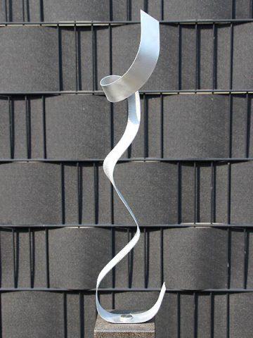 Aluminiumkunst Rope exkl. Sockel