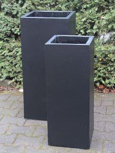 Blumenkästen für draußen leichtbeton farbe schwarz 80*35*35 cm.