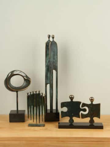 Collectie bronzen beelden Paul Roijmans