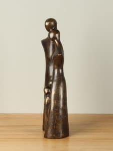 Statue Bronze Familie 3 Kinder