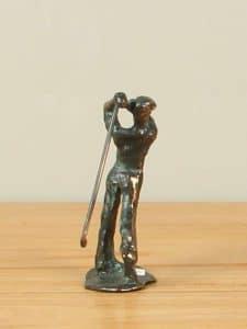 Skulptur Bronze Golfer