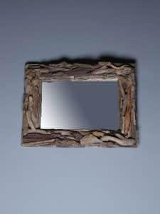 treibholz-Spiegel 80x60 cm.