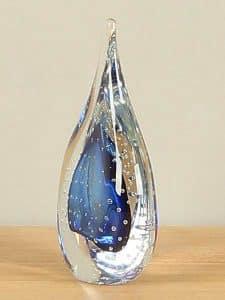 Glas Dekoration blau