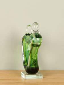 Skulptur Glas grün NZS-672-v
