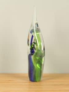 Figur Glas grün/blau