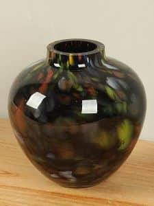 Ball Vase schwarz und farbig