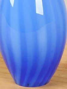 Glastropfen blau