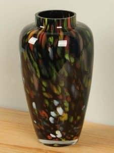 Vase Glas schwarz und farbig