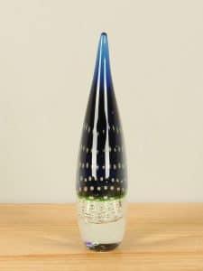 Pegel Glas blau/grün mit Luftblasen