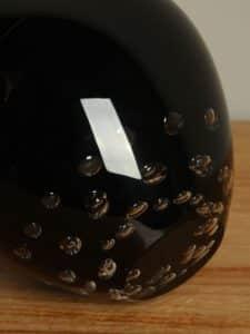 Glasvase schwarz mit Luftblasen 37 cm