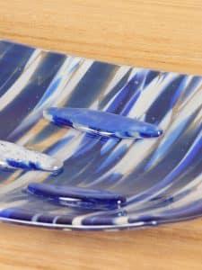 Schale Glas vienna blau