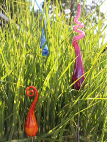 Tuinprikkers uit glas