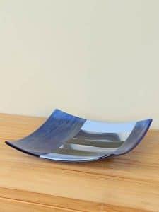 Schale Glas Nikki's creation Blue dish
