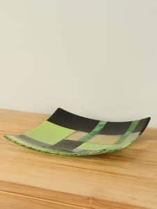 Schale Glas Nikki's creation Green dish