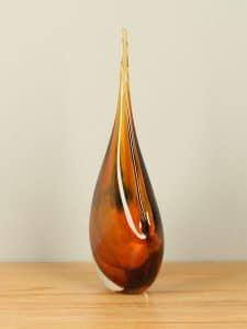 Glasskulptur ocker