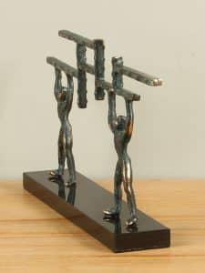 Dekofigur bronze Samenwerking